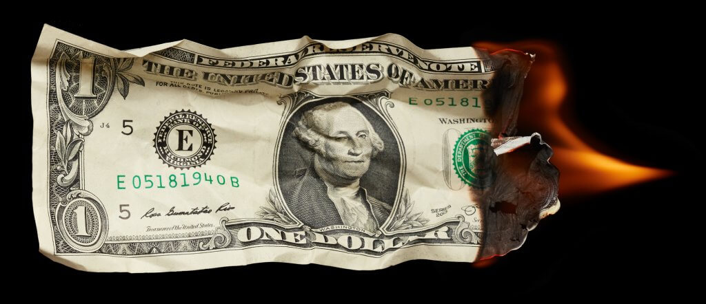 buring money